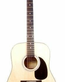 "41"" Inch Full Size Natural Handcrafted Steel String Dreadnought Acoustic Guitar (PRO-1 Series) 1"