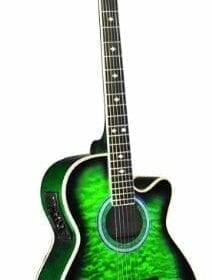 INDIANA Madison MAD-QTGR Acoustic-Electric Guitar - Green Sunburst 6