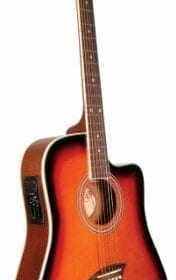 Kona K2SB Acoustic Electric Dreadnought Cutaway Guitar in Tobacco Sunburst Finish 7