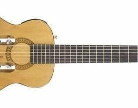 Traveler Guitar ESCN GLS Escape Classical Nylon-String Acoustic/Electric Travel Guitar with Gig Bag, Natural Gloss 7