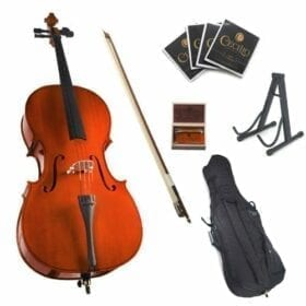Cecilio CCO-100 Student Cello with Soft Case, Stand, Bow, Rosin, Bridge and Extra Set of Strings, Size 3/4 8