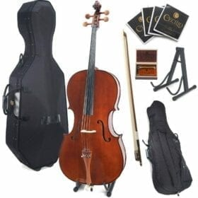 Cecilio CCO-300 Solid Wood Cello with Hard & Soft Case, Stand, Bow, Rosin, Bridge and Extra Set of Strings, Size 4/4 (Full Size) 10