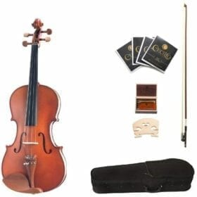Cecilio CVA-400 14-Inch Solid Wood Flamed Viola 11