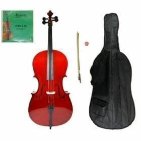 Crystalcello MC100 Full Size 4/4 Cello with Carrying Bag + Bow + Accessories 12