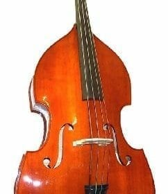 GRACE 3/4 Size Student Natural Upright Double Bass with Bag,Bow,Bridge+Free Rosin 10