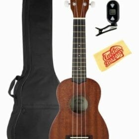 Kala KA-15S Mahogany Soprano Ukulele Bundle with Gig Bag, Tuner, Instructional DVD, and Polishing Cloth 10