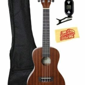 Kala KA-C Mahogany Concert Ukulele Bundle with Gig Bag, Tuner, and Polishing Cloth 7
