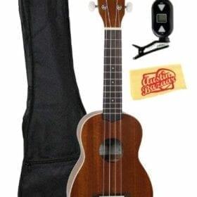 Kala KA-S Mahogany Soprano Ukulele Bundle with Gearlux Gig Bag, Clip-On Tuner, Austin Bazaar Instructional DVD, and Austin Bazaar Polishing Cloth 6