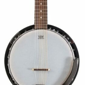 Left Handed 6 String Banjo Guitar with Closed Back Resonator and 24 Brackets 6